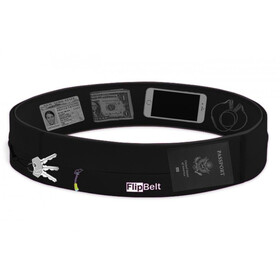FlipBelt Zipper Ceinture fitness, black